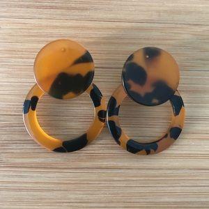 Black and brown Tortoise earrings